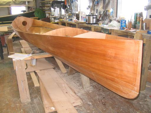 21 foot guideboat nearing completion